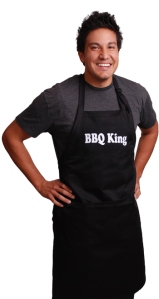 man in BBQ King Apron