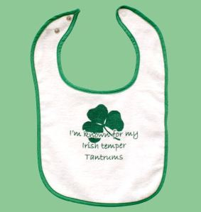 irish Celtic Attitudes Baby t-shirt bib