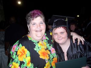 Picture of Joan and her daughter (Elise) at Elise's College Graduation from St. Leo Univ.