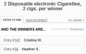 XCig Winners