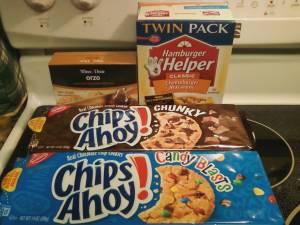 Cookies, Hamburger Helper and Orzo from Winn Dixie